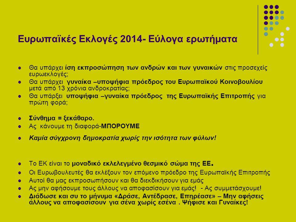 Ευρωπαϊκές Εκλογές 2014- Εύλογα ερωτήματα