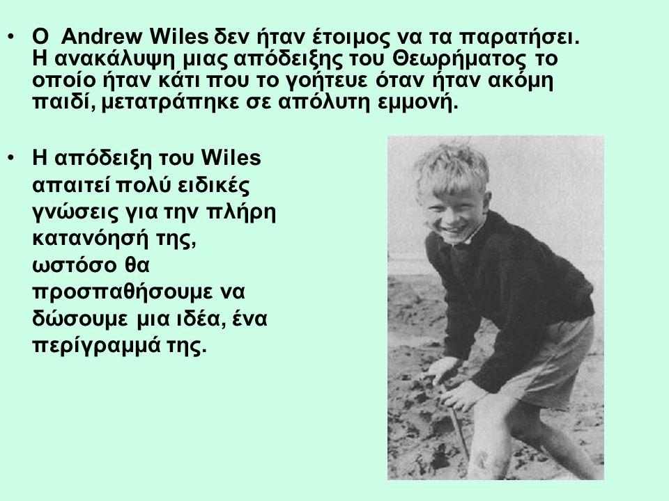 Ο Andrew Wiles δεν ήταν έτοιμος να τα παρατήσει