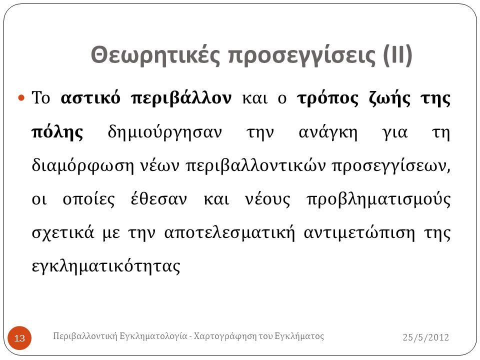Θεωρητικές προσεγγίσεις (ΙΙ)