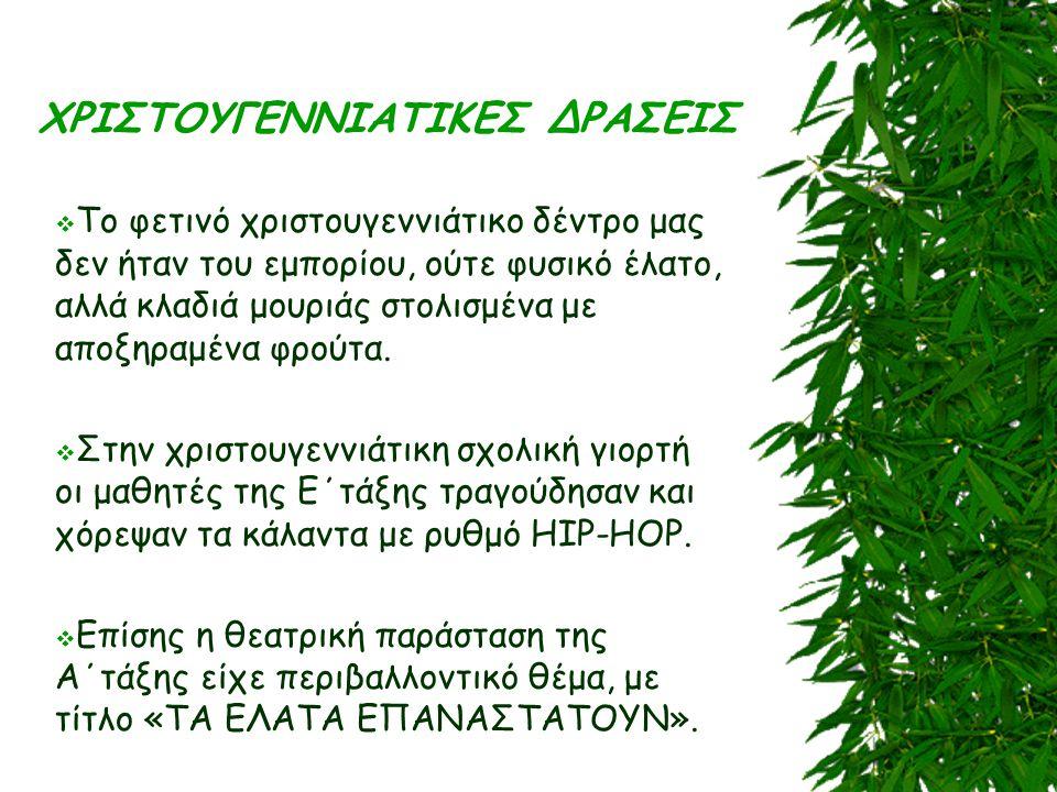 ΧΡΙΣΤΟΥΓΕΝΝΙΑΤΙΚΕΣ ΔΡΑΣΕΙΣ