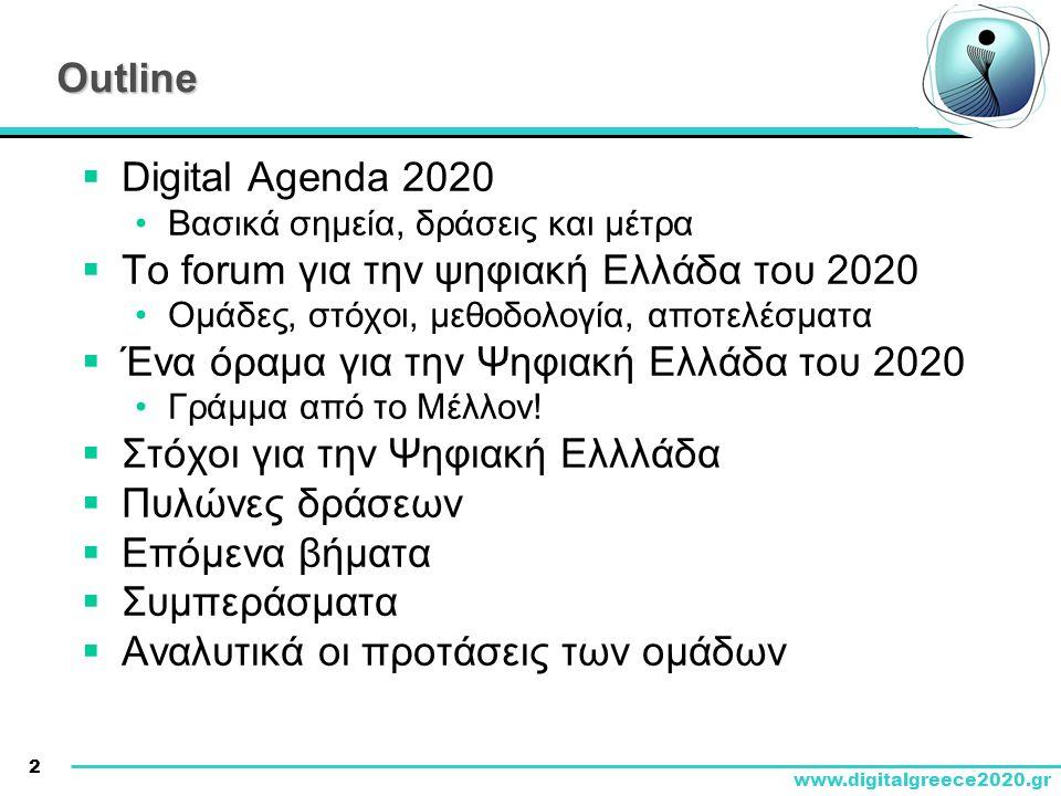 Το forum για την ψηφιακή Ελλάδα του 2020