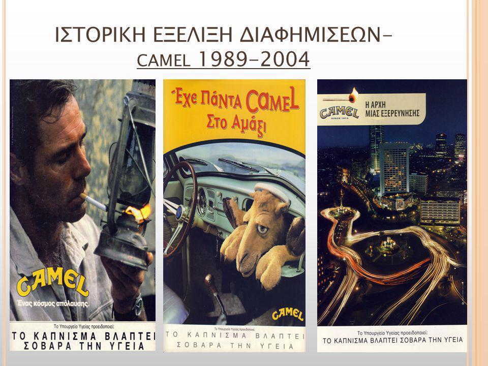 ΙΣΤΟΡΙΚΗ ΕΞΕΛΙΞΗ ΔΙΑΦΗΜΙΣΕΩΝ-camel 1989-2004