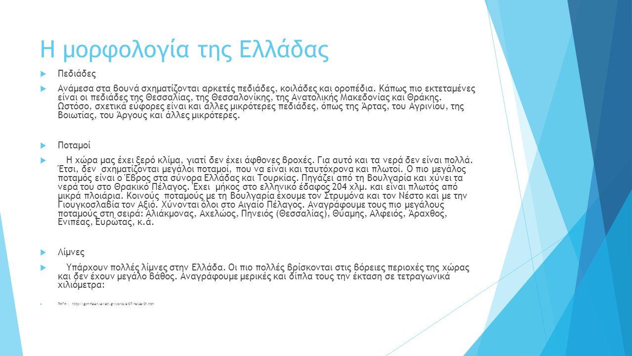 Η μορφολογία της Ελλάδας