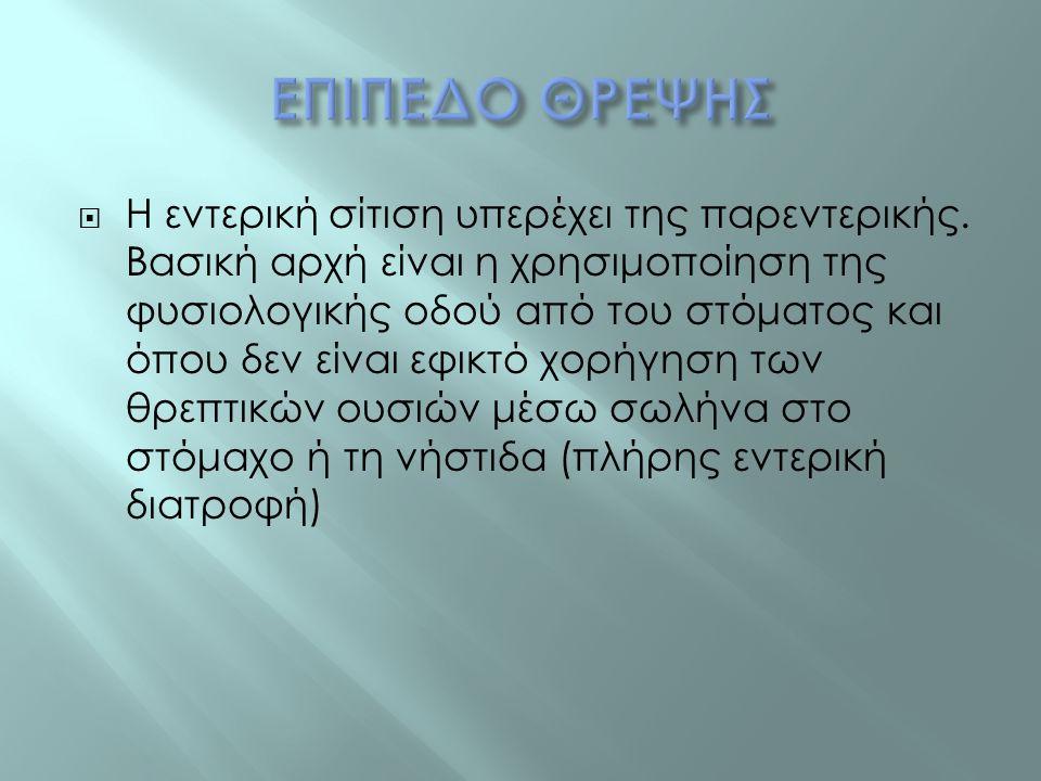 ΕΠΙΠΕΔΟ ΘΡΕΨΗΣ