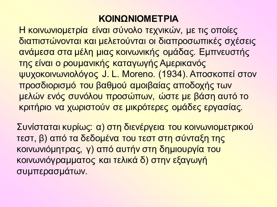 ΚΟΙΝΩΝΙΟΜΕΤΡΙΑ