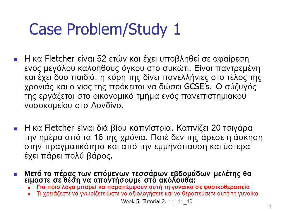 Case Problem/Study 1
