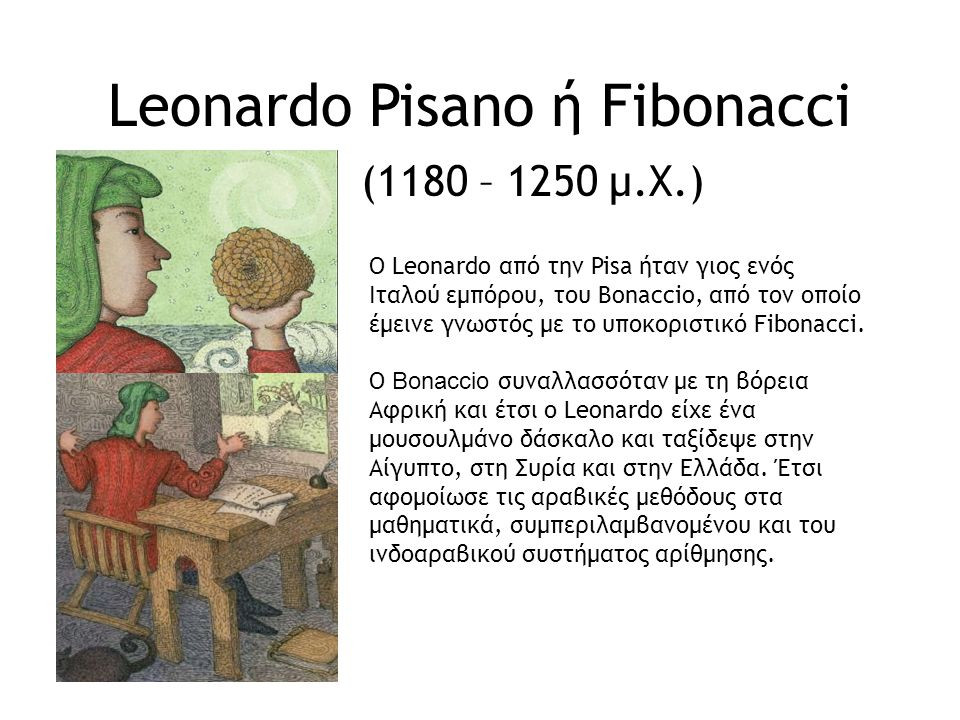 Leonardo Pisano ή Fibonacci (1180 – 1250 μ.Χ.)