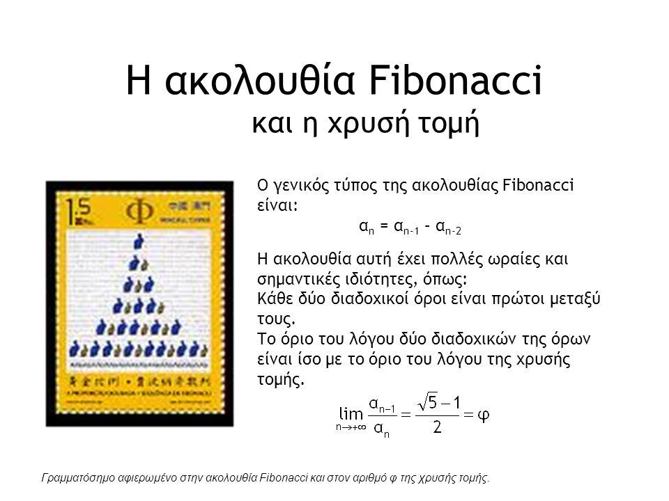 Η ακολουθία Fibonacci και η χρυσή τομή