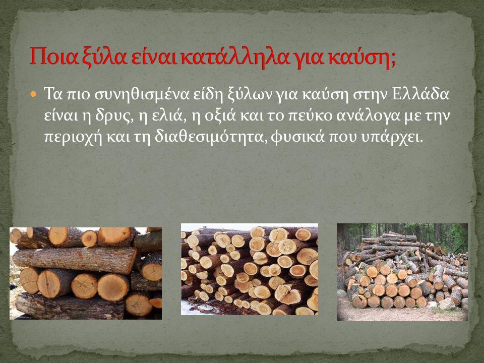 Ποια ξύλα είναι κατάλληλα για καύση;