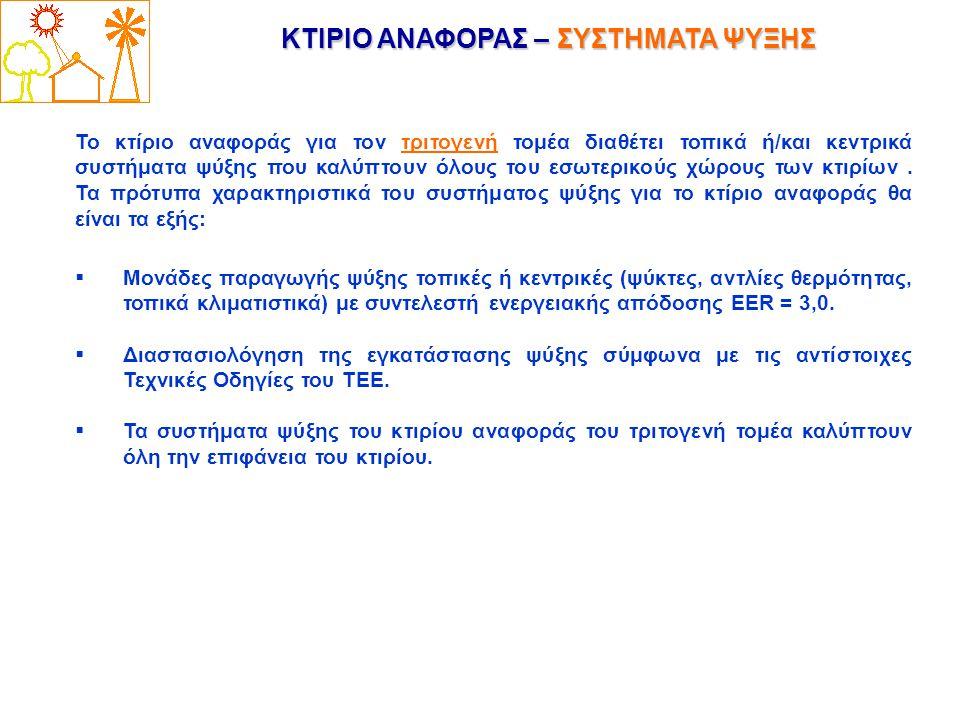 ΚΤΙΡΙΟ ΑΝΑΦΟΡΑΣ – ΣΥΣΤΗΜΑΤΑ ΨΥΞΗΣ