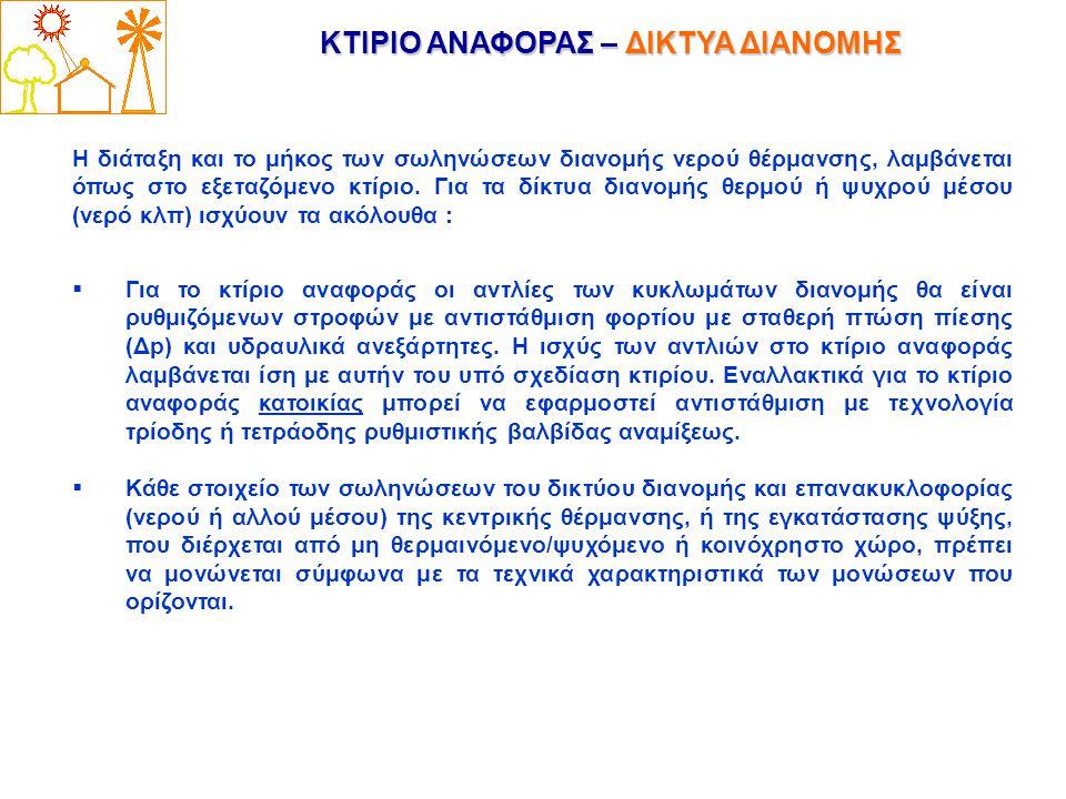 ΚΤΙΡΙΟ ΑΝΑΦΟΡΑΣ – ΔΙΚΤΥΑ ΔΙΑΝΟΜΗΣ