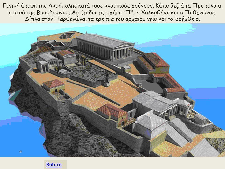 Γενική άποψη της Ακρόπολης κατά τους κλασικούς χρόνους