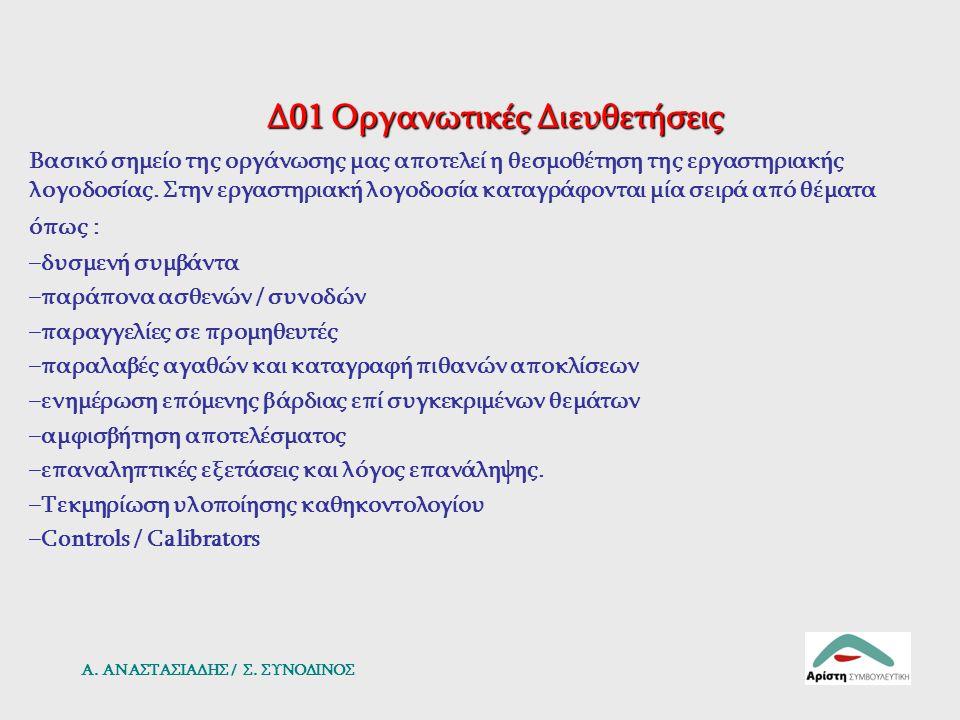 Δ01 Οργανωτικές Διευθετήσεις
