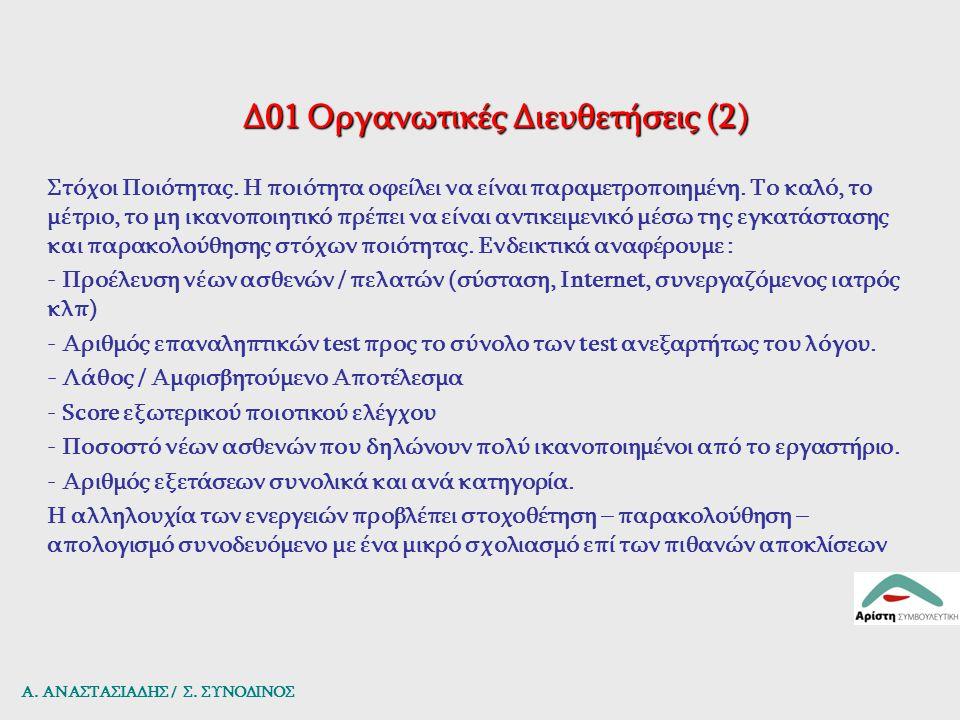 Δ01 Οργανωτικές Διευθετήσεις (2)