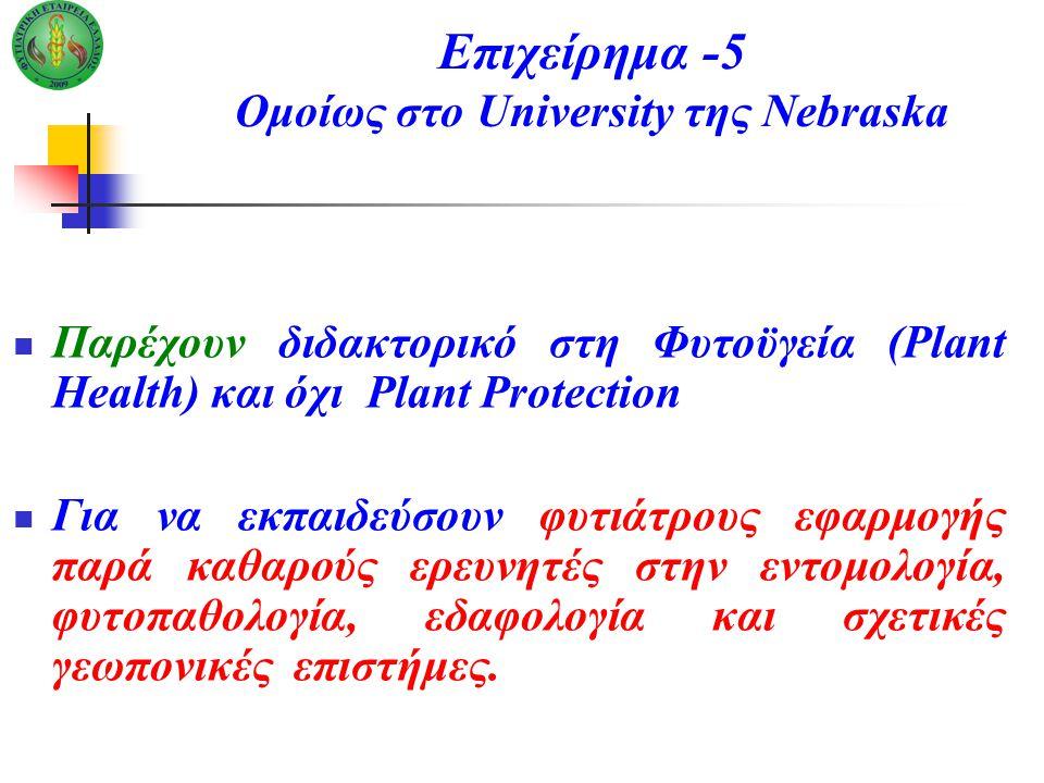 Επιχείρημα -5 Ομοίως στο University της Nebraska