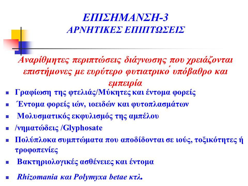 ΕΠΙΣΗΜΑΝΣΗ-3 ΑΡΝΗΤΙΚΕΣ ΕΠΙΠΤΩΣΕΙΣ