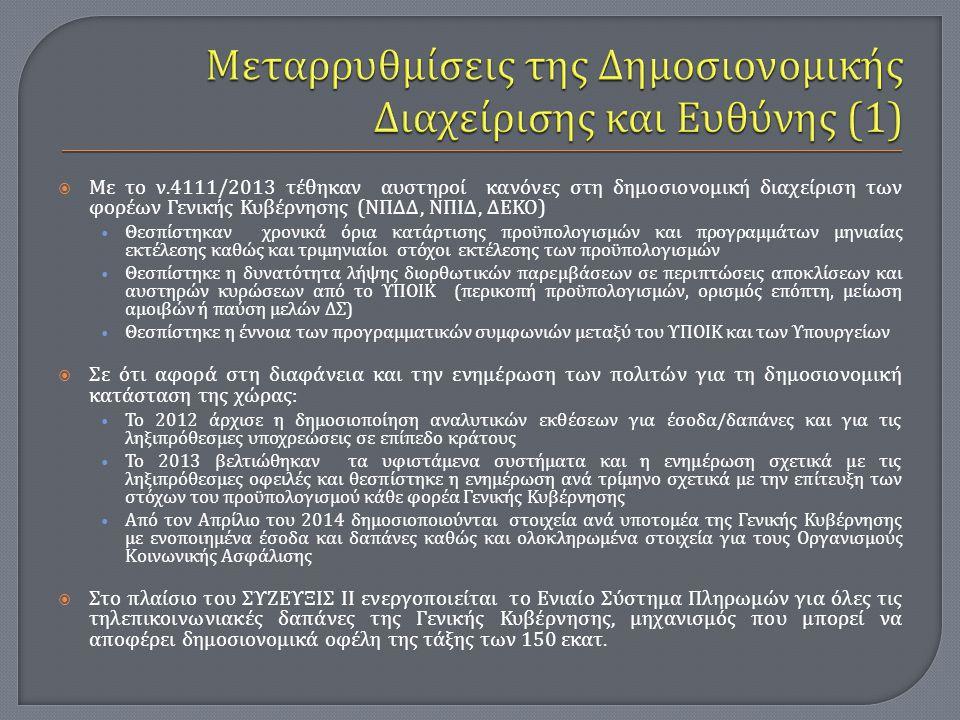 Μεταρρυθμίσεις της Δημοσιονομικής Διαχείρισης και Ευθύνης (1)