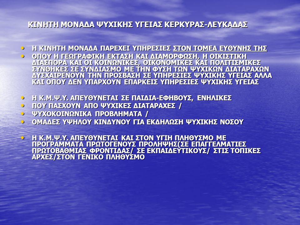 ΚΙΝΗΤΗ ΜΟΝΑΔΑ ΨΥΧΙΚΗΣ ΥΓΕΙΑΣ ΚΕΡΚΥΡΑΣ-ΛΕΥΚΑΔΑΣ