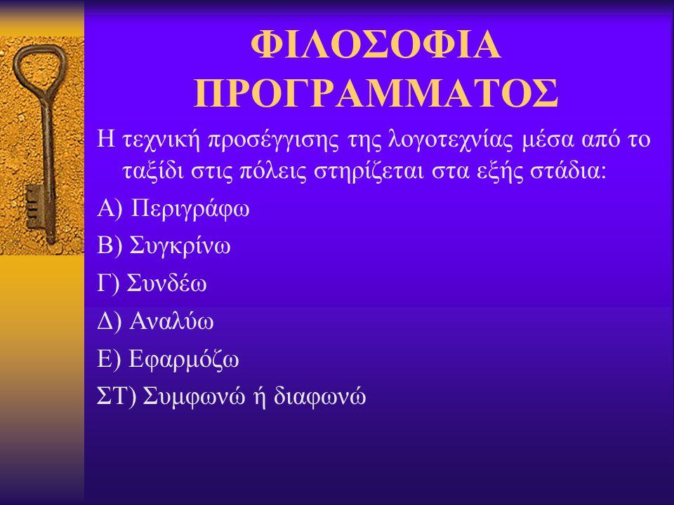 ΦΙΛΟΣΟΦΙΑ ΠΡΟΓΡΑΜΜΑΤΟΣ