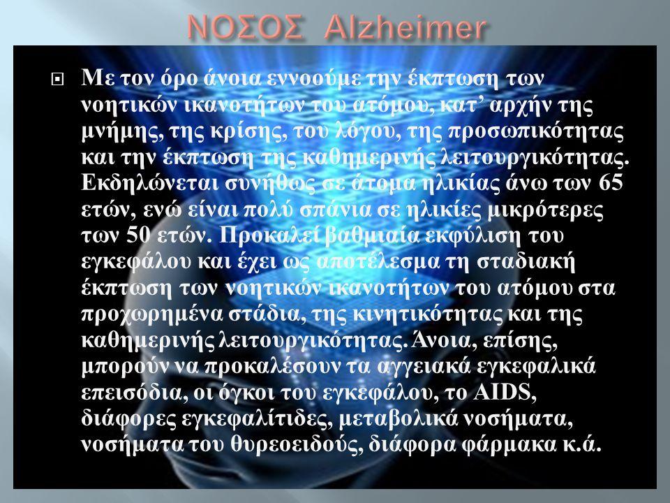ΝΟΣΟΣ Alzheimer