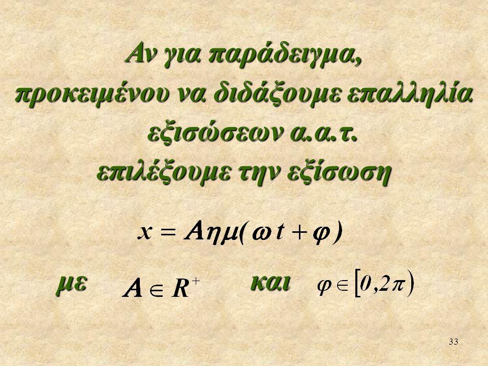 προκειμένου να διδάξουμε επαλληλία εξισώσεων α.α.τ.