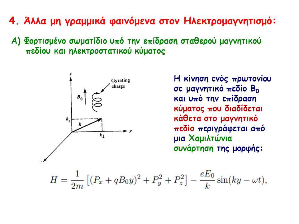 4. Άλλα μη γραμμικά φαινόμενα στον Ηλεκτρομαγνητισμό: