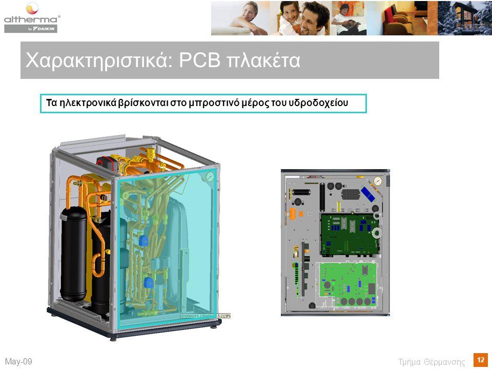 Χαρακτηριστικά: PCB πλακέτα