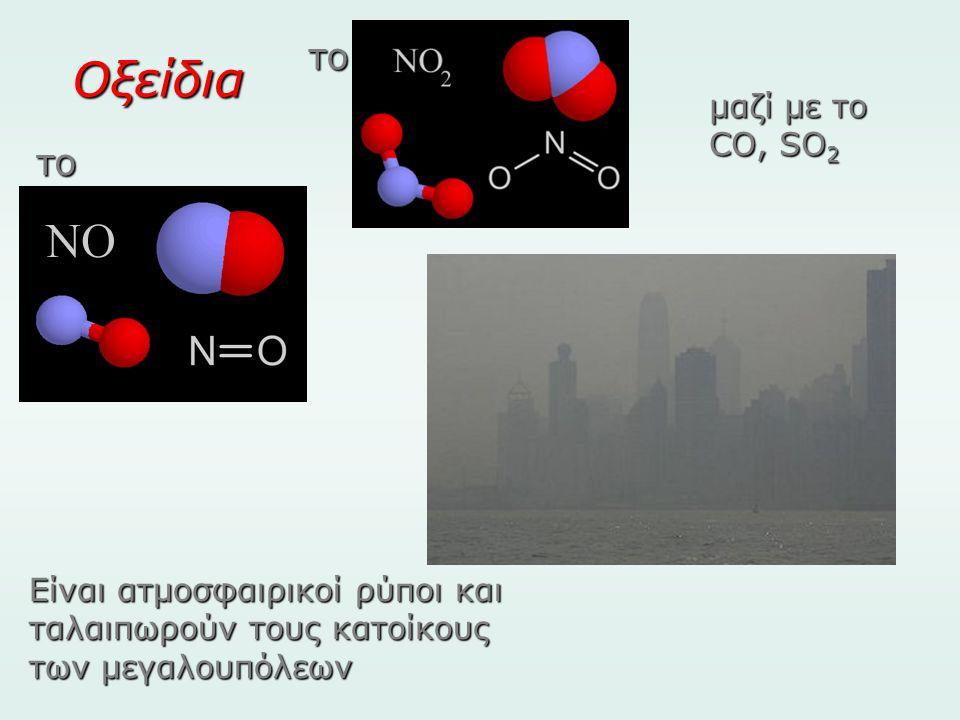 Οξείδια το το μαζί με το CO, SO2