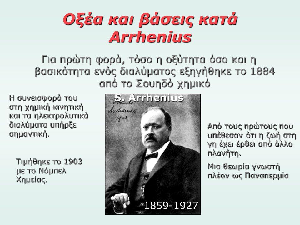 Οξέα και βάσεις κατά Arrhenius