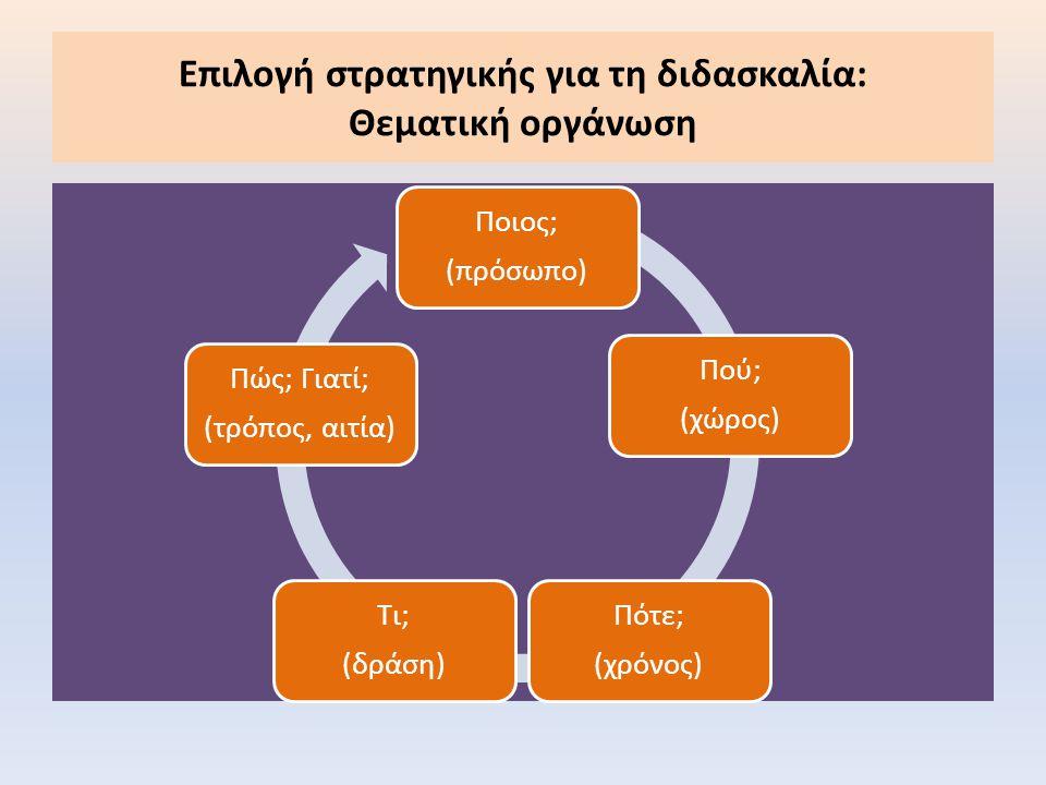 Επιλογή στρατηγικής για τη διδασκαλία: Θεματική οργάνωση
