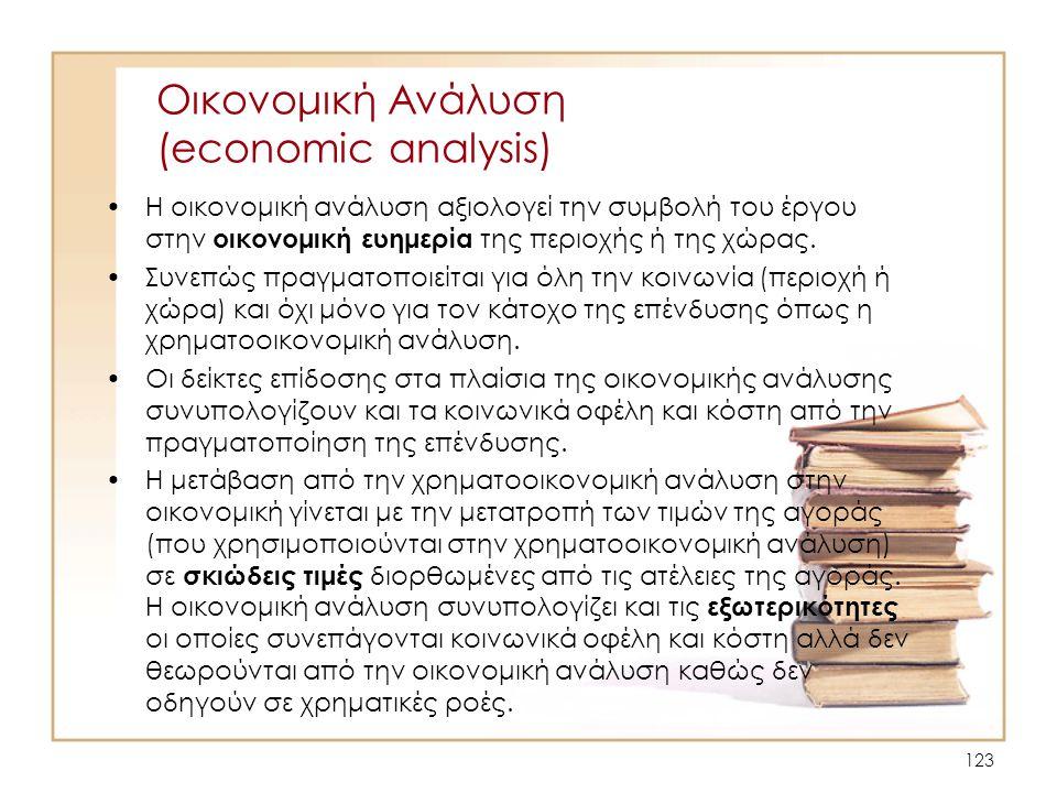 Οικονομική Ανάλυση (economic analysis)