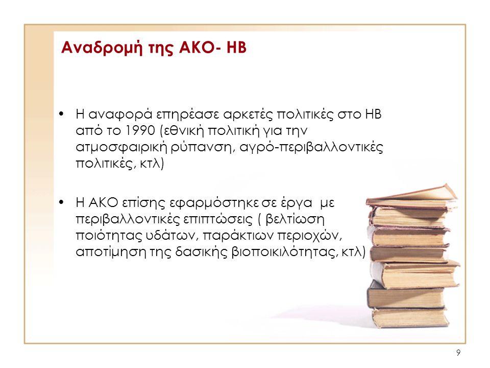 Αναδρομή της ΑΚΟ- ΗΒ