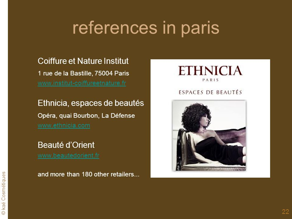 references in paris Coiffure et Nature Institut
