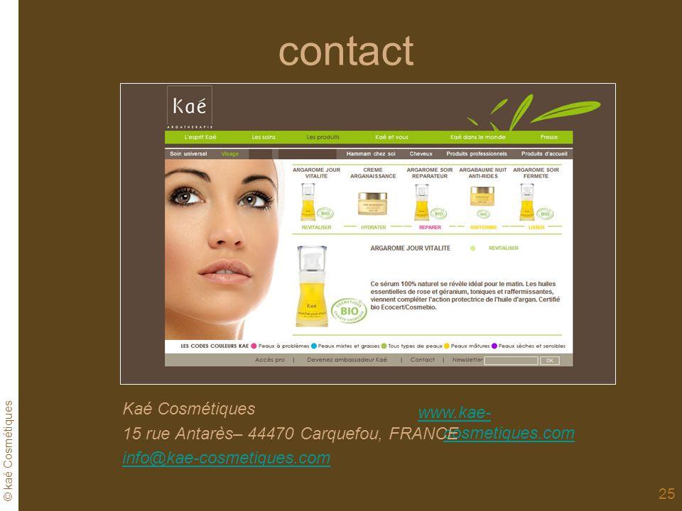 contact Kaé Cosmétiques www.kae-cosmetiques.com