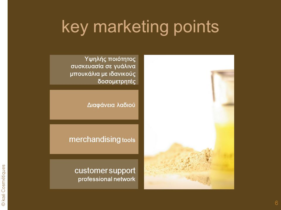 key marketing points merchandising tools