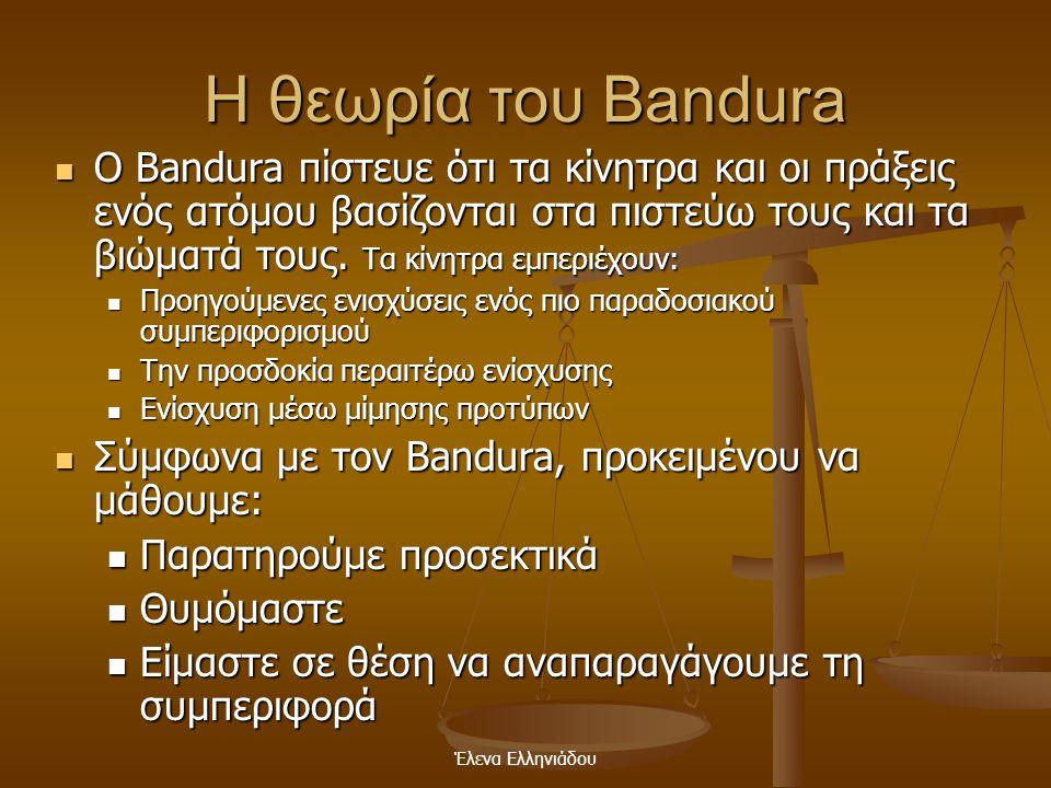 Η θεωρία του Bandura