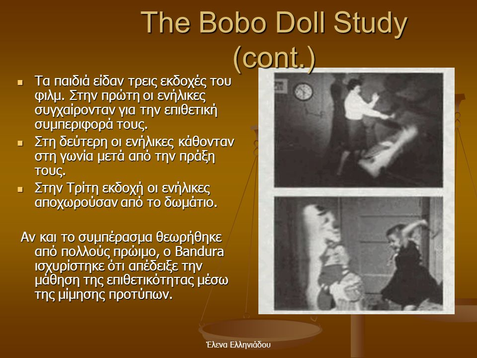 The Bobo Doll Study (cont.)