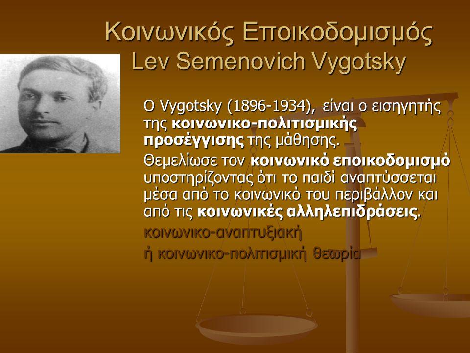 Κοινωνικός Εποικοδομισμός Lev Semenovich Vygotsky