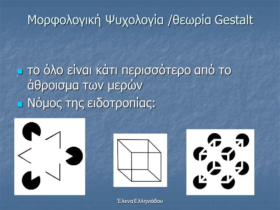 Μορφολογική Ψυχολογία /θεωρία Gestalt