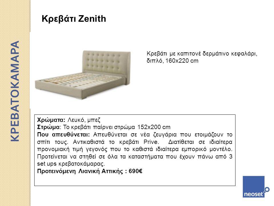ΚΡΕΒΑΤΟΚΑΜΑΡΑ Κρεβάτι Zenith