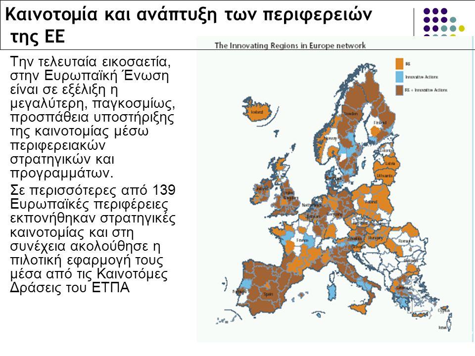 Καινοτομία και ανάπτυξη των περιφερειών της ΕΕ