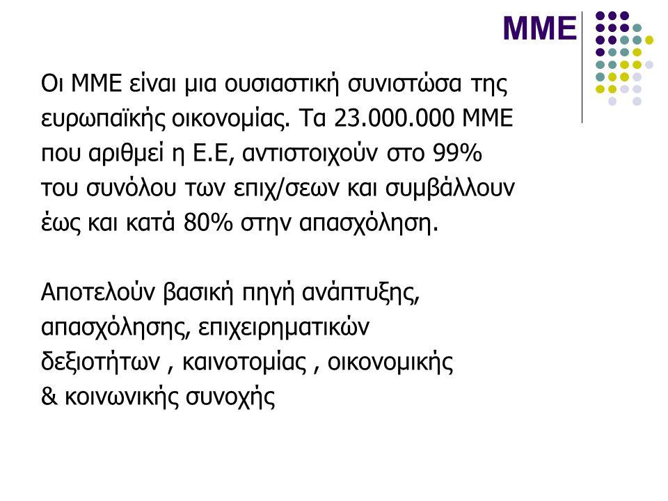 ΜΜΕ Οι ΜΜΕ είναι μια ουσιαστική συνιστώσα της