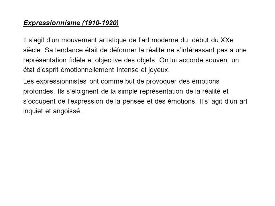 Expressionnisme (1910-1920)