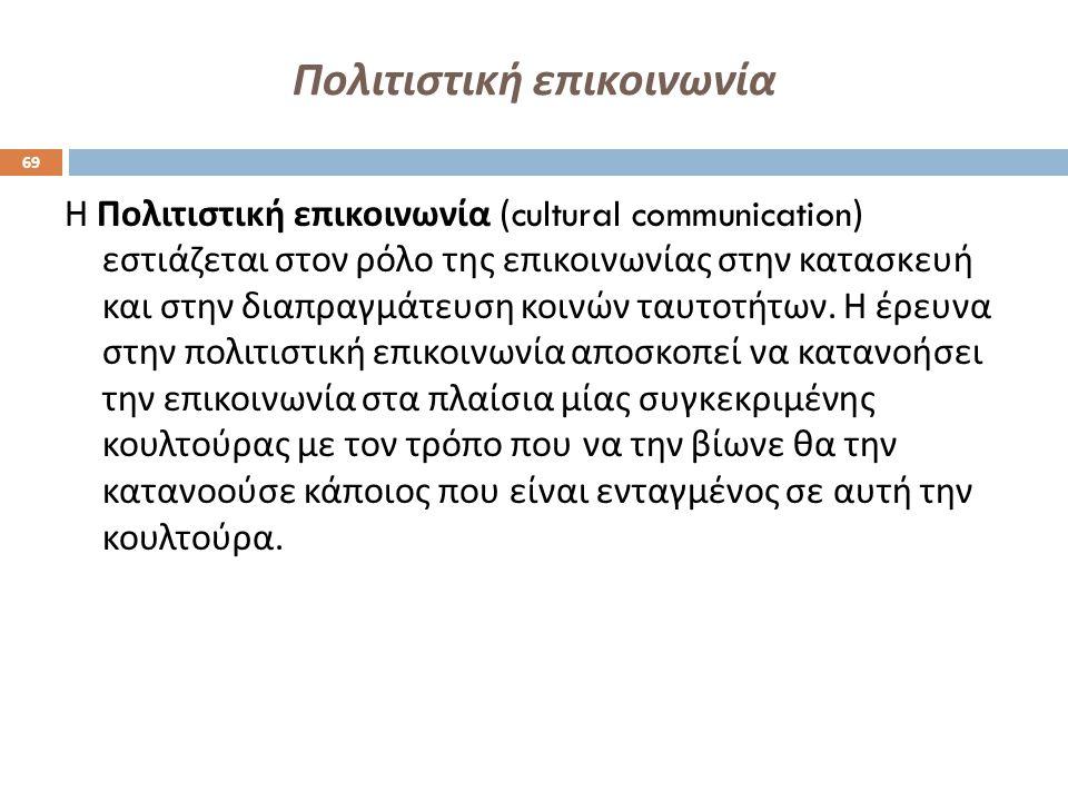 Πολιτιστική επικοινωνία