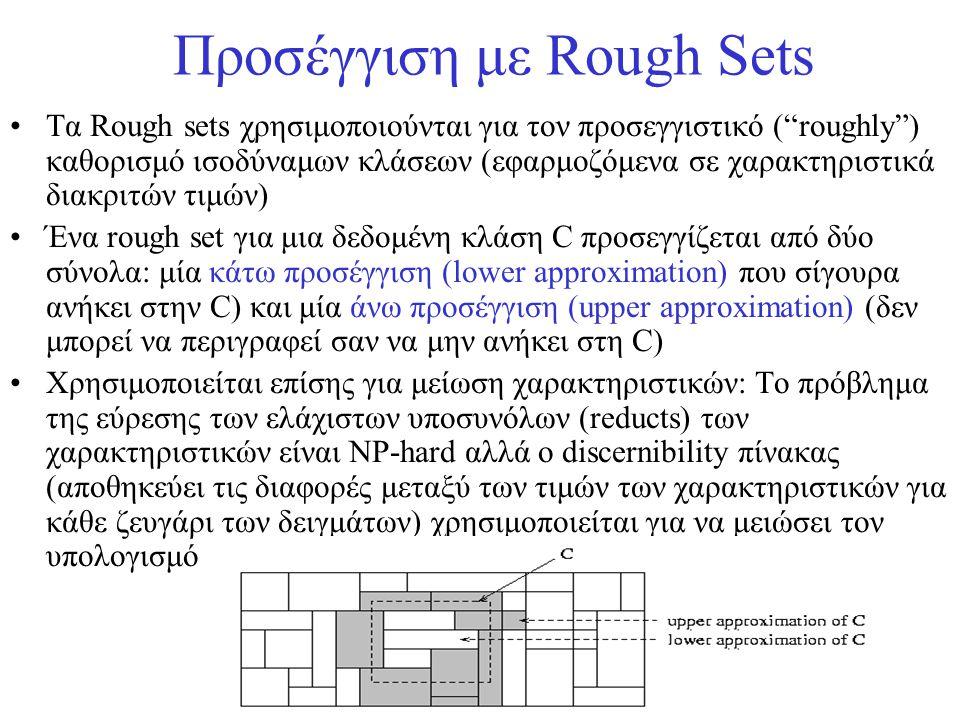 Προσέγγιση με Rough Sets