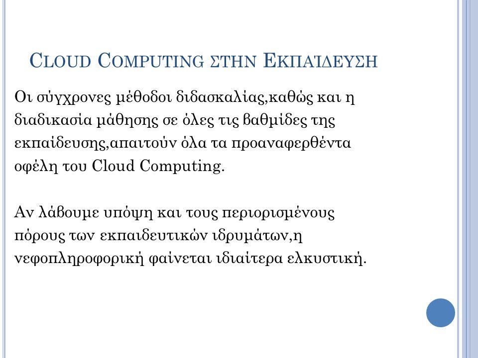 Cloud Computing στην Εκπαίδευση
