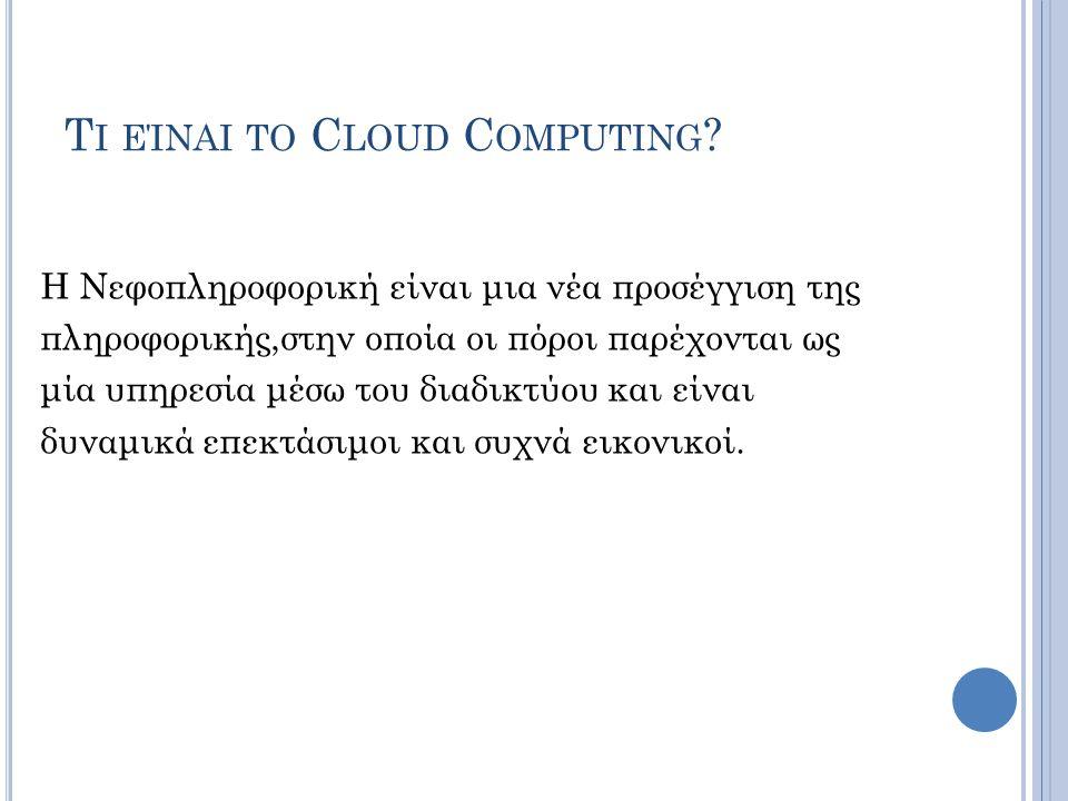 Τι είναι το Cloud Computing