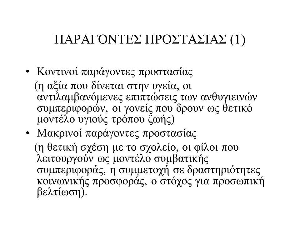 ΠΑΡΑΓΟΝΤΕΣ ΠΡΟΣΤΑΣΙΑΣ (1)