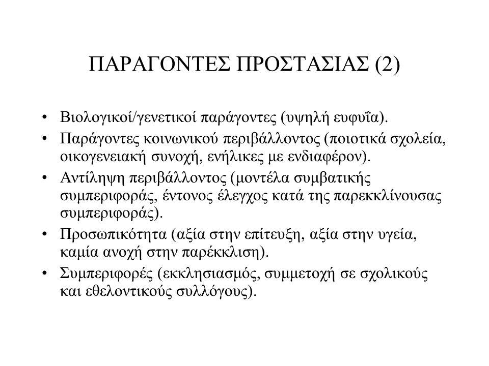 ΠΑΡΑΓΟΝΤΕΣ ΠΡΟΣΤΑΣΙΑΣ (2)
