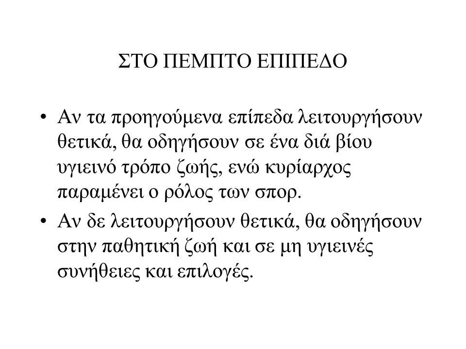 ΣΤΟ ΠΕΜΠΤΟ ΕΠΙΠΕΔΟ